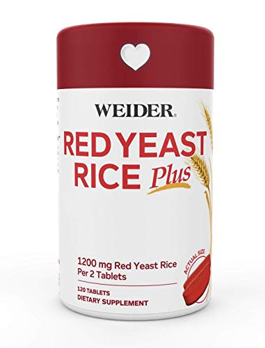 Weider Red Yeast Rice Plus 1200mg ♡ - With 850mg of Natural Phytosterols- Gluten FREE - One Month Supply
