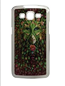 Green Woman Polycarbonate Hard Case Cover for Samsung Grand 2/Samsung Grand 7106 Transparent