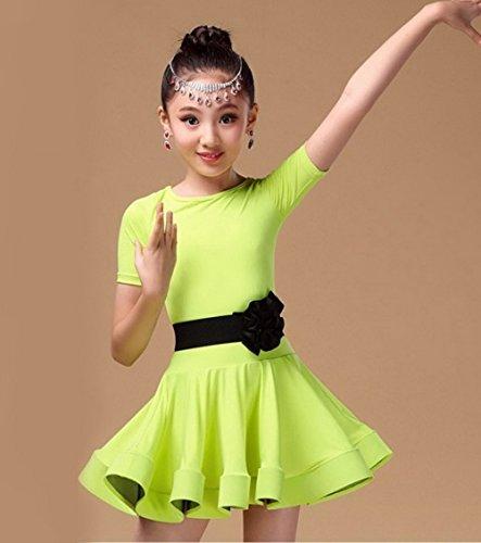e7713a6a3 Happy Cherry Kid Girls Spandex Latin Rumba Samba Dance Dress ...