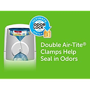 Playtex Diaper Genie Complete Assembled Diaper Pail with Odor Lock Technology & 1 Full Size Refill, White (1 pail and 1 refill per unit)
