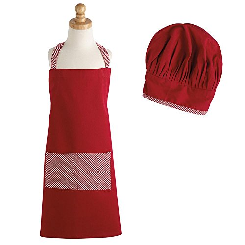 - Heart of America Gift Set Red Gingham Children's Chef Aprons & Hats - 4 Pieces