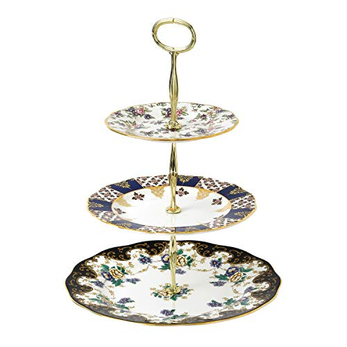 100 Years Royal Albert 3 Tier Cake - Cake Plate Chintz