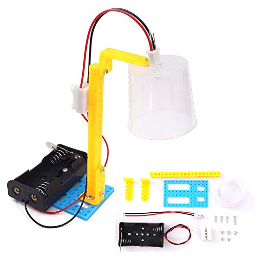 (bromrefulgenc Science Experiment Intelligence Toy for Kids,DIY Energy Saving Desk Light Lamp Science Assembly School Education Kids)