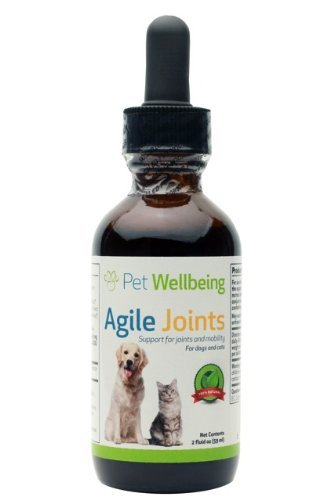 Pet Wellbeing - Agile Joints for Cats - A Natural, Herbal Supplement for Arthritis and Joint Support - 2 oz/59 ml Liquid Bottle