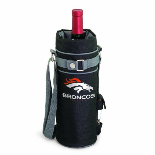 PICNIC TIME NFL Denver Broncos Insulated Single Bottle Wine Sack with Corkscrew