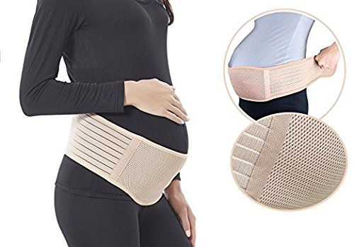 Maternity Belt Breathable Lightweight Abdominal Binder Back Support Comfortable Belly Band for Pregnancy One Size Beige by Sanky (Image #6)