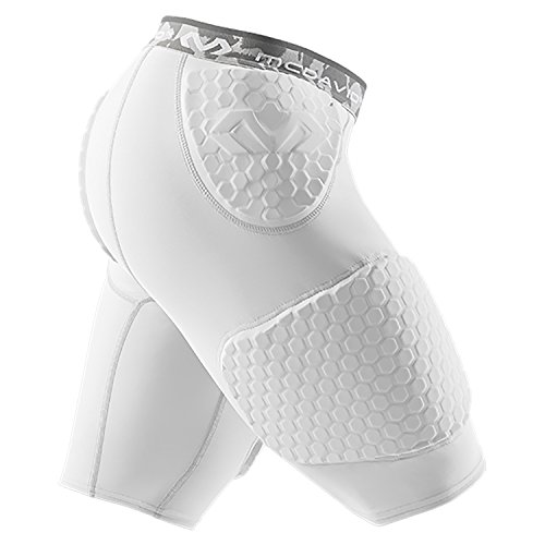 McDavid 7991 Hex Short with Contoured Wrap Around Thigh White, S by McDavid