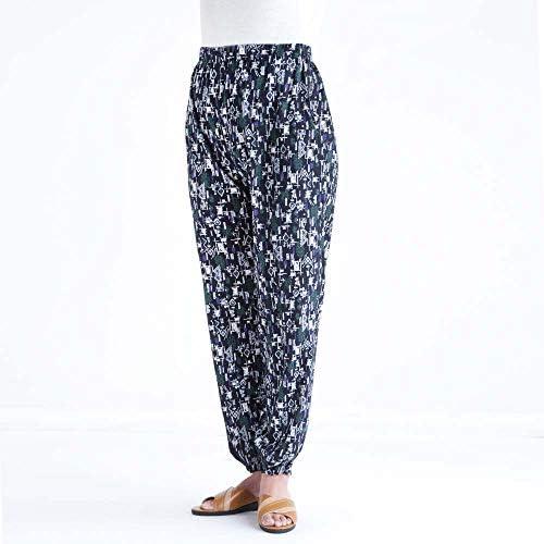 綿100% 楊柳 サラサラ もんぺ 女性用 3色組 エスニックパンツ 16141 春 夏 しおり型ルーペ付