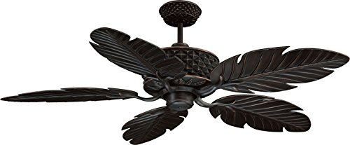 Ellington PAP52ABZ5RCDI, Pineapple 52 Five Blade Aged Bronze Outdoor Ceiling Fan with Remote