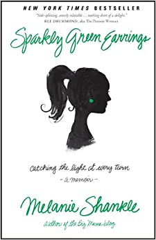 Book Sparkly Green Earrings