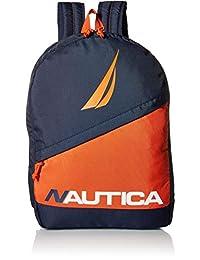 Nautica Men's Diagonal Zip Polyester Resistant Laptop Backpack