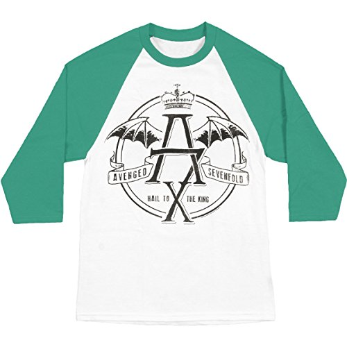 Avenged Sevenfold Wings (Bravado Avenged Sevenfold St. Patrick's Hail to the Kings Raglan T-shirt-xl)