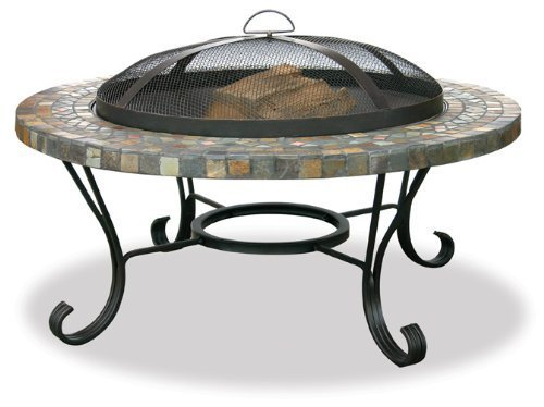 Uniflame WAD931SP Slate/Tile Outdoor Firebowl with Copper Accents by UniFlame ()