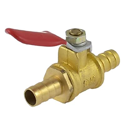Amico 8mm Double Hose Barb Lever Handle Full Port Pneumatic Brass Ball Valve from Amico