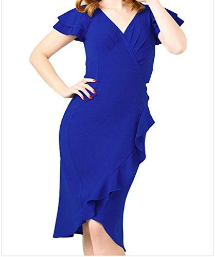 issa blue wrap dress - 3