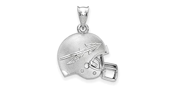 925 Sterling Silver Officially Licensed University College of Florida Pendant in Football 21 mm x 20 mm