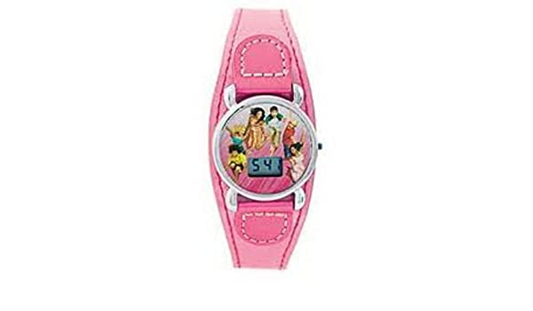 Amazon.com: High School Musical Girls Digital Pink Fashion Cuff Watch ZR24298: Watches