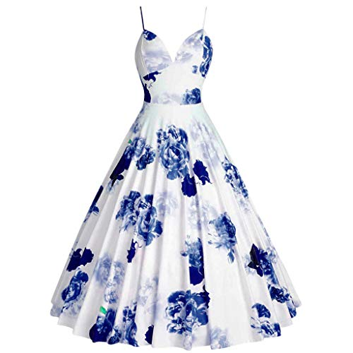 SMALLE_Clothing Vintage Dress for Women,SMALLE Women Plus Size Audrey Hepburn Rockabilly Dress 1950s Retro Swing Dress -