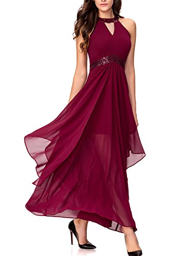Sequins Halter Prom Formal Dress - 6