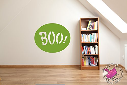 Boo Sign Spooky Halloween Decoration (LIME TREE GREEN)
