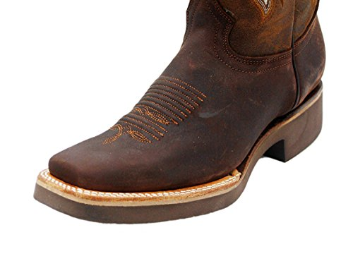 Square Cowhide Western Genuine Men Rodeo Michi Moca Boots Cowboy Toe Leather Dona nwf7YqxBH