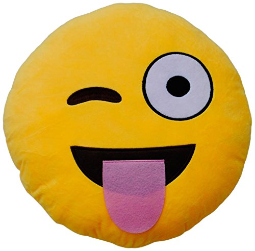 Emoticonworld Lengua - Cuscino con Emoticon linguaccia, 32 cm Corbera ML Polo Trade S.A.L. EW-0002