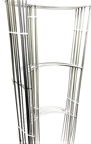 10 Pack - Smart 42'' Tall Heavy Duty opened Half Ring (42'' Tall & 16'' Wide & 3 Half Ring & Long leg) Grow Tomato Cage, Plant Support, Trellis (Silver) by SHRC