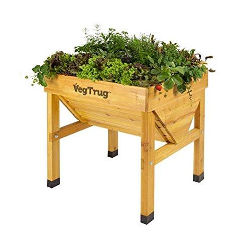Mesa de cultivo de madera Vegtrug mini: Amazon.es: Jardín