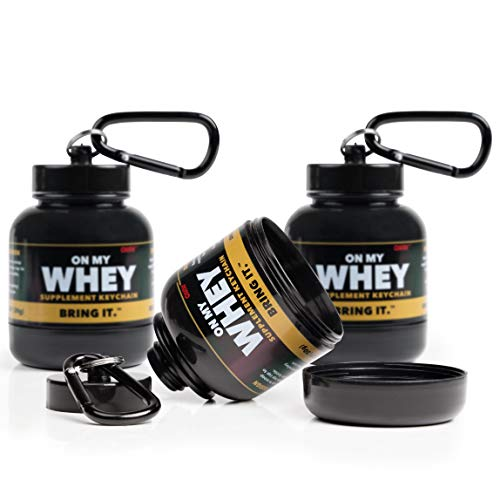 OnMyWhey - Portable Protein and Supplement Powder Funnel Keychain - Classic 3-Pack