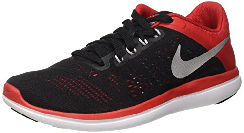 university Flex Shoe Mens Nike Sneaker 2016 006 Running Red Schwarz RN Black Silver Metallic Herren OExOqY5Fwg