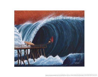 (11x14) Rick Romano Pier Pressure Art Print Poster