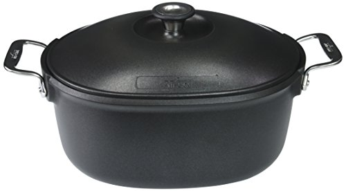 Aluminum Non Stick Roaster - All-Clad 2100083285 Cookware Dutch oven, Black