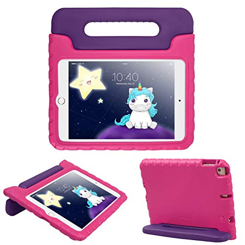 HDE iPad Mini 5 Case (2019 Release) - Protective Shockproof Cover for Kids Compatible with New 5th Generation Apple iPad Mini 5 and 4th Generation iPad Mini 4 (2015-2018) Limited Edition Purple & Pink