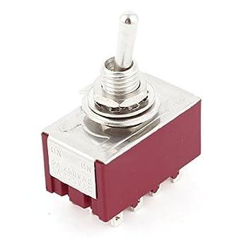AC250V / 2A AC125V / 5A 6 milímetros 4PDT 2 posições de bloqueio do metal Interruptor