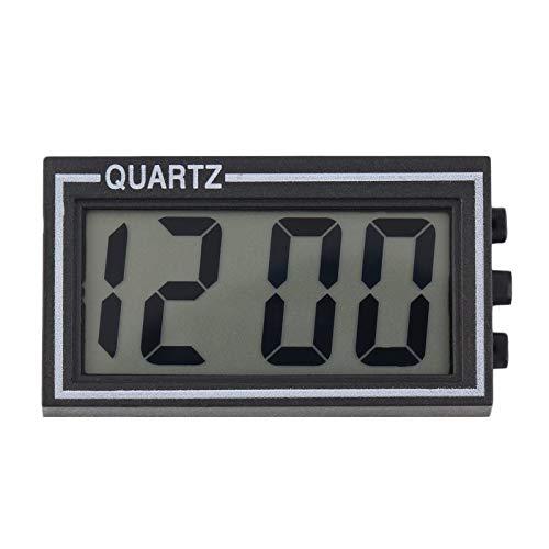 BianchiPatricia Black Digital LCD Table Car Dashboard Desk Date Time Calendar Small Clock