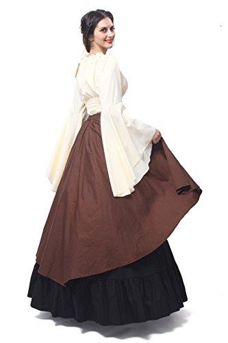 ni Damen Königin Kleid Party Kostüm Nuoqi Mittelalterliche Kleid Gc229a Langarm Maxi 4qgPBTvx
