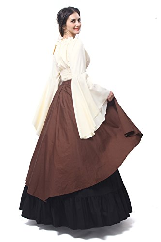 ni Party Langarm Damen Mittelalterliche Königin Gc229a Maxi Kleid Kostüm Nuoqi Kleid PvI0wZIq