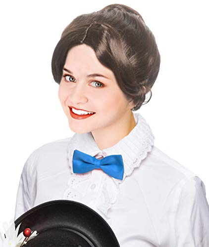Brown Victorian Era Mary Poppins Costume Wig Mary Poppins -