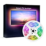 NiteBird Smart TV Backlight Work with Alexa Google Home,Sync to Music WiFi LED TV light 9.2Ft Kit for 32\ to 60\ TV, Waterproof 5050 RGB Strip Light with Controller, Dimmable