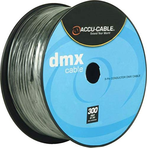 American DJ ADJ Accu-Cable 3-Pin XLR DMX Lighting Cable - Bulk 300 Ft. Spool (Bulk Dmx Cable)