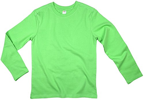Earth Elements Big Kid's (Youth) Long Sleeve T-Shirt Large Lime