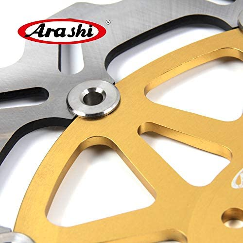 Arashi Front Brake Disc Rotors for MOTO GUZZI BREVA 1100 2005-2007 ABS 05-07 CALIforNIA JACKAL 1100 2001-2006 Motorcycle Accessories Gold CALIforNIA EV 1100 1996-2000 SPECIAL 1997-2003