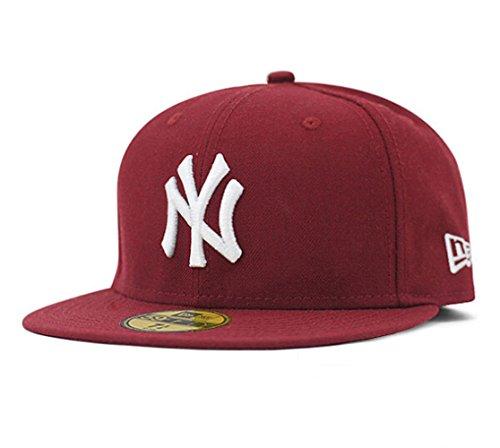 e26857bdf33 Tx Adjustable Unisex New York Yankees Cap Snapback Sport Flat Brim Hip-hop  Hat (Burgundy) - Buy Online in Oman.