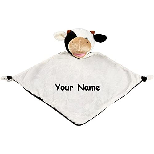 Personalized Cubbies Cow Snuggle Buddy Baby Blanky Blanket - 11 Inches