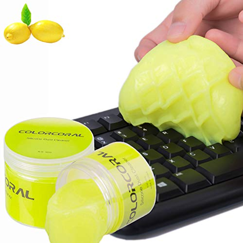 Keyboard Cleaner Universal Cleaning Gel PC Tablet Laptop Keyboards, Car Vents, Cameras, Printers, Calculators from ColorCoral 160G (Calculator Camera)