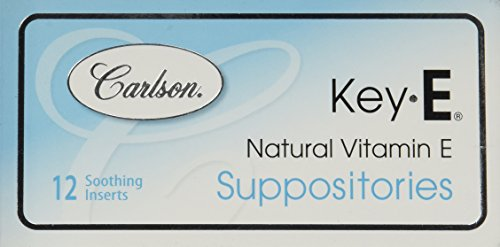 Carlson Labs Key e Suppositories 12pk