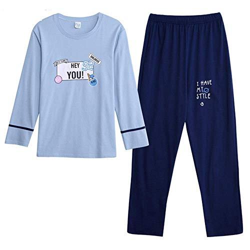 colore Dimensione Color Lunghe Homewear A Da Sleepwear Uomo Xx Photo Maniche large Pigiama Set In Cotone Color AcH4qfS