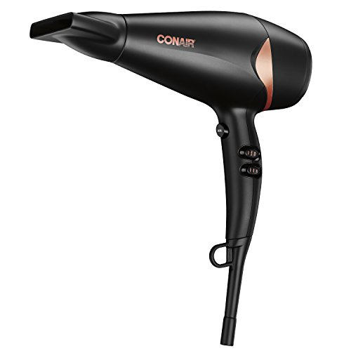 Conair Quick Blow-Dry Pro Styler Hair Dryer, 1875 Watt, Black Copper