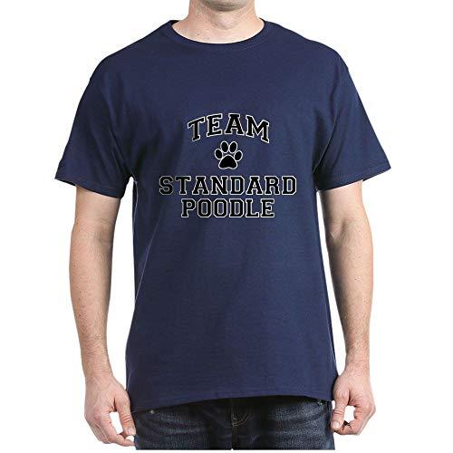 (CafePress Team Standard Poodle Dark T Shirt 100% Cotton T-Shirt Navy )