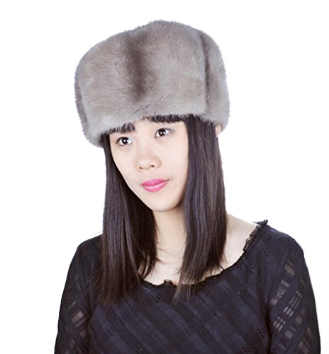 Wholesale China Russian Girls Mink Fur Hats,Grey by CX FUR